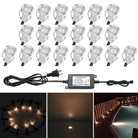 qaca 0 7 tiny recessed led deck lighting kits 12v warm white