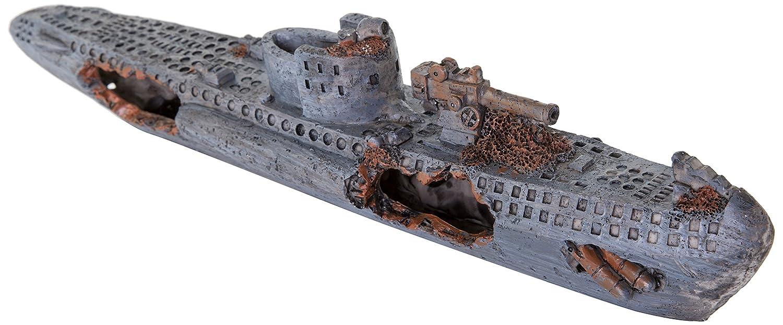 BioBubble Origins Sunken U-Boat Ornament, Multicolor