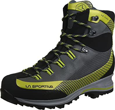 b954db89831 La Sportiva Unisex Adults' Trango TRK Leather GTX Carbon/Green High ...