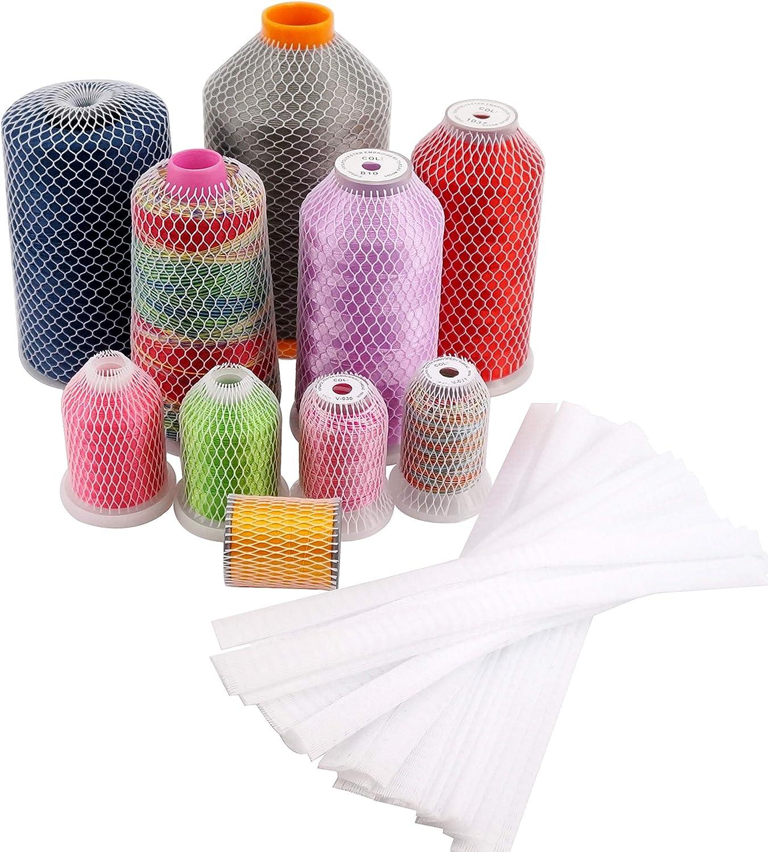 SUPVOX 100pcs Thread Spool Net Sewing Thread Net Machine Thread Net Embroidery Thread Net Thread Spool Net for Sewing Embroidery Machine Large Small Cones