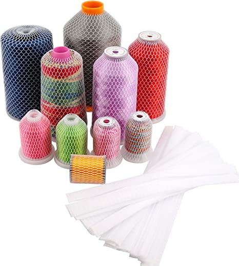 20 Yards 1 Roll Thread Spool Net Sewing Embroidery Thread Net Mesh Spool Saver for Winding Embroidery Quilting Machine Small Large Cones