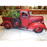 Red Vintage Pickup Planter, Home Decor, Mancave