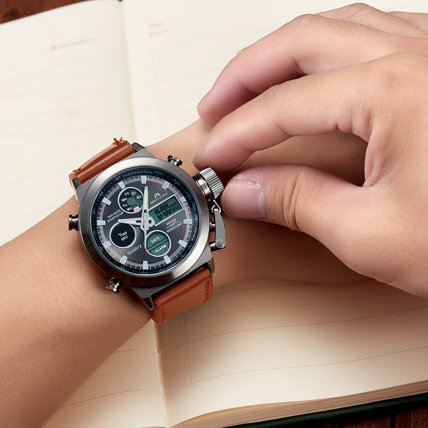 mens sports watches men military waterproof big face. Black Bedroom Furniture Sets. Home Design Ideas