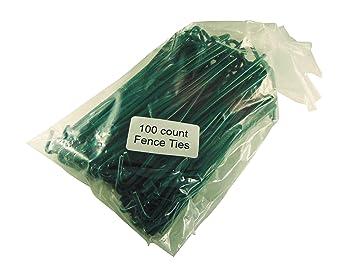 Amazon.com: Green PVC Coated Aluminum Chain Link Fence Ties 100 ...