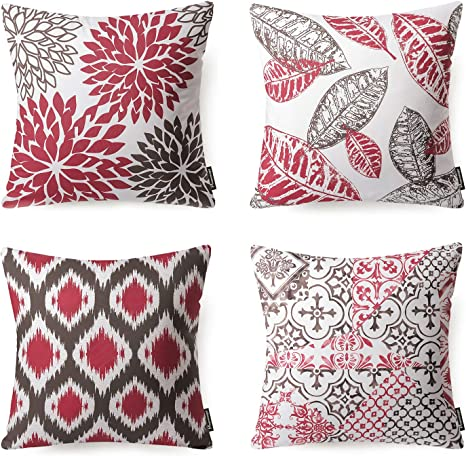 4 Sizes Available Exquisite Throw Pillow Beautiful Burgandy Style