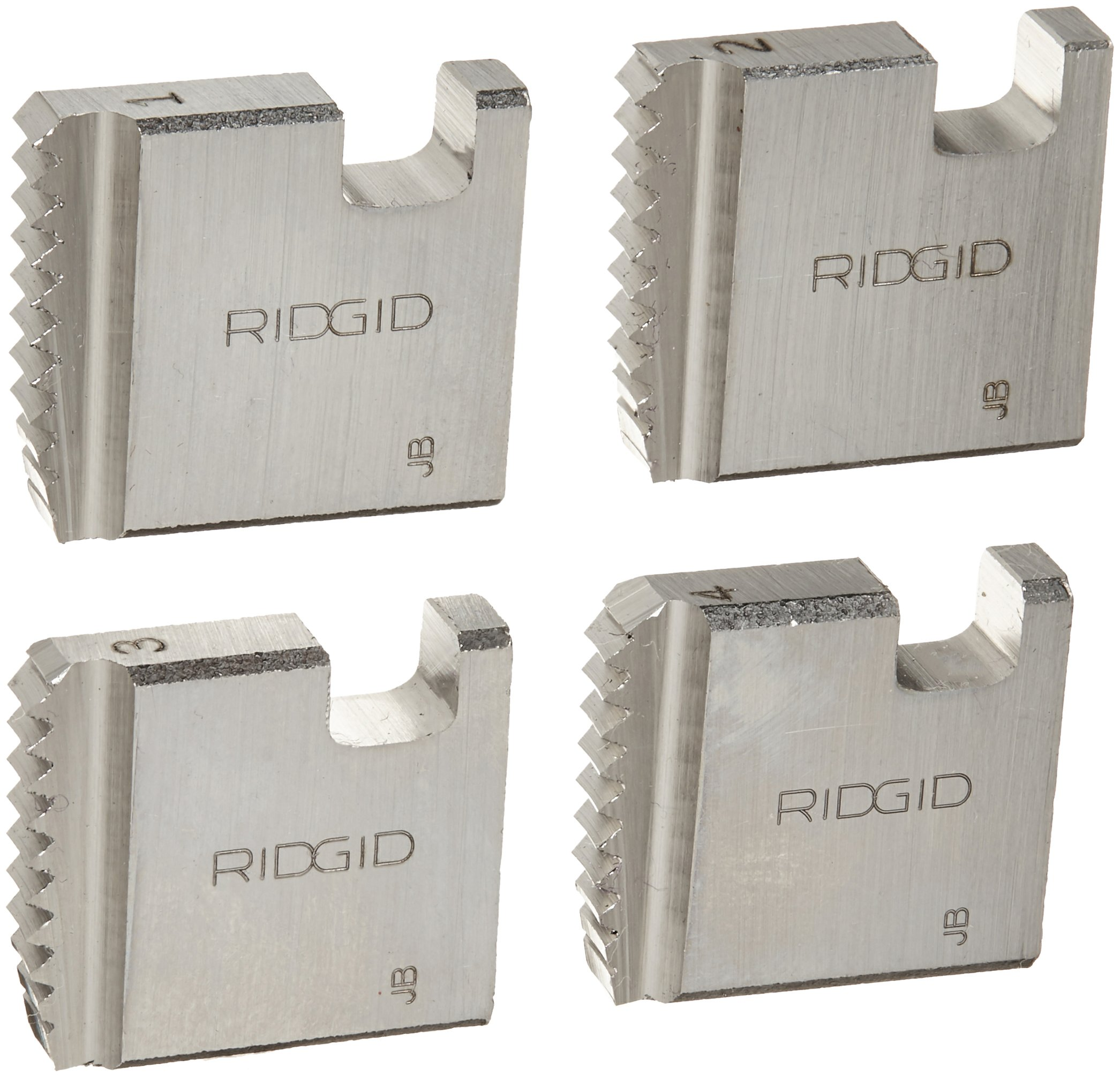 RIDGID 37835 Manual Threader Pipe Dies, Right-Handed Alloy NPT Pipe Dies with Nominal Pipe Size of 1-Inch for Ratchet Threaders or 3-Way Pipe Threaders by Ridgid