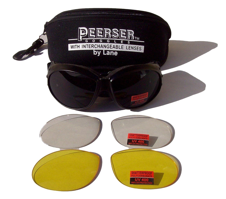 Motocicleta Peerser/anti-niebla fizzco paracaidismo gafas de seguridad | Turbo Lanes Eyewear USA