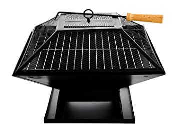 Para exteriores Fire Pit grabadora de Aire libre chalupa cuadrado con funda estufa calentador eléctrico para