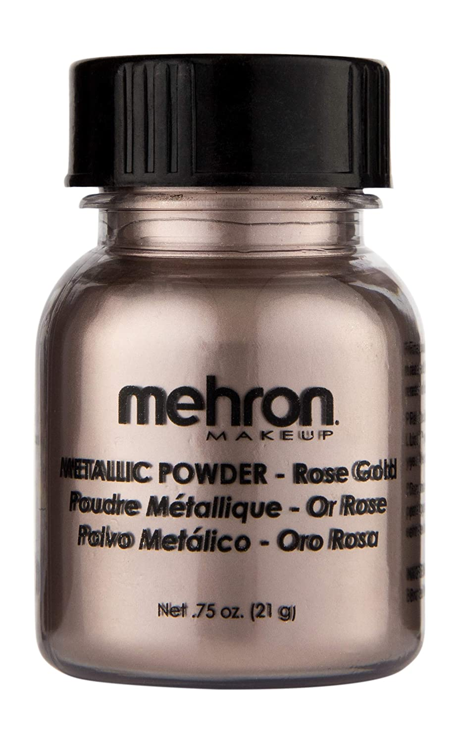 Mehron Makeup Metallic Powder (.75 oz) (Rose Gold)
