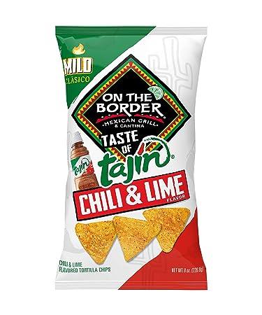 On The Border Taste of Tajín Clásico Tortilla Chips, 8-Ounce Bag (Pack of 8)