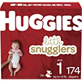 Diapers Size 1 - Huggies Little Snugglers Disposable Baby Diapers, 174ct, Mega Colossal Pack