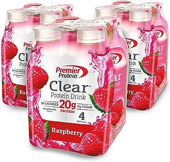 12-Pack Premier Protein 16.9 fl oz Clear Protein Drink Bottles (Raspberry)