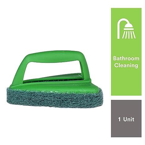 Scotch-Brite Bathroom Brush with Abrasive Fibre Web (Green)