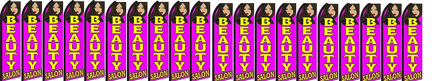 Pack of 20 hardware not included Beauty Salon King Swooper Feather Flag Sign