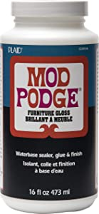 Mod Podge Waterbase Sealer, Glue and Finish for Furniture (16-Ounce), CS15126 Gloss Finish