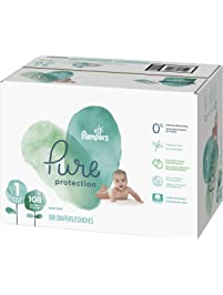 Diapers Newborn/Size 1 , 108 Count - Pampers Pure Disposable Baby Diapers, Hypoallergenic and Unscented Protection, Giant...