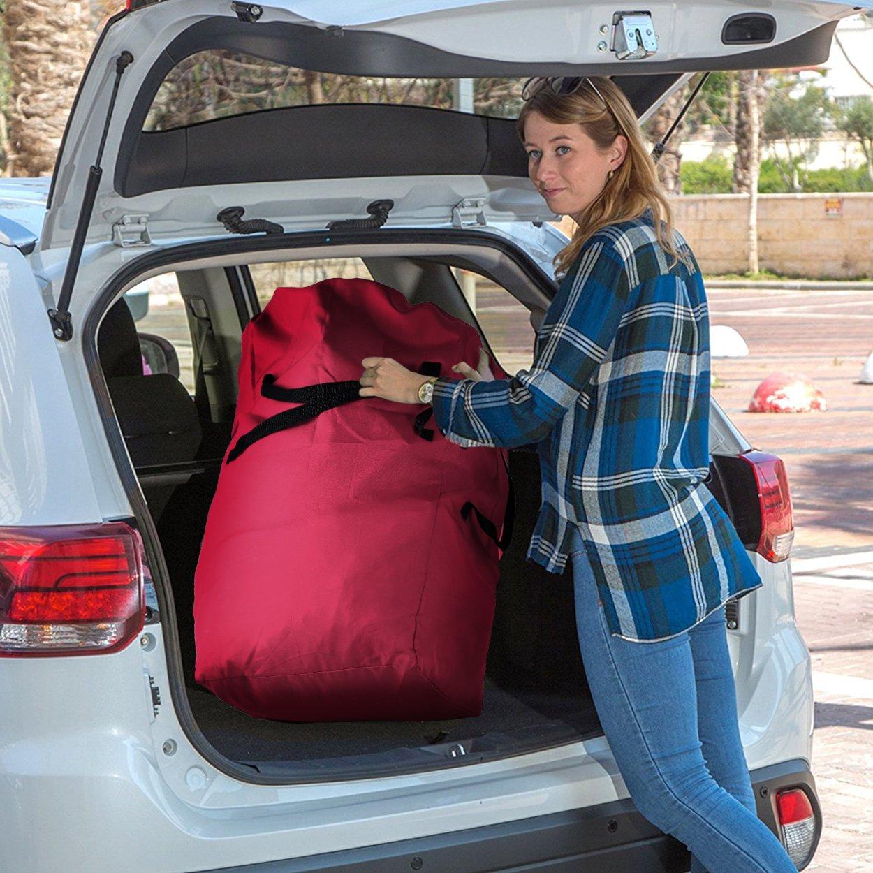 43 18 18 carritos de beb/é carros de mano sillas de ruedas color rojo bolsa impermeable de transporte Oxford para cargar asientos de auto Bolsa de viaje extra grande con correa para hombro