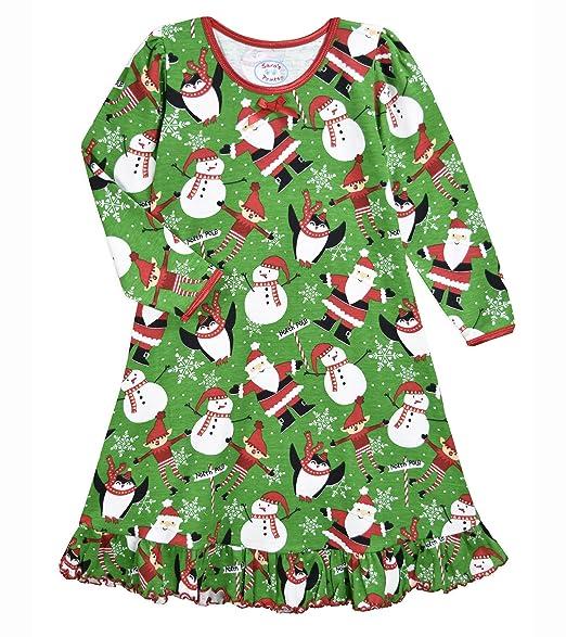 Amazon.com: Saras Prints - Camisón de manga larga para niña ...