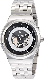 7229a1b33 Swatch Mens Analogue Automatic Watch with Stainless Steel Strap YIS416G