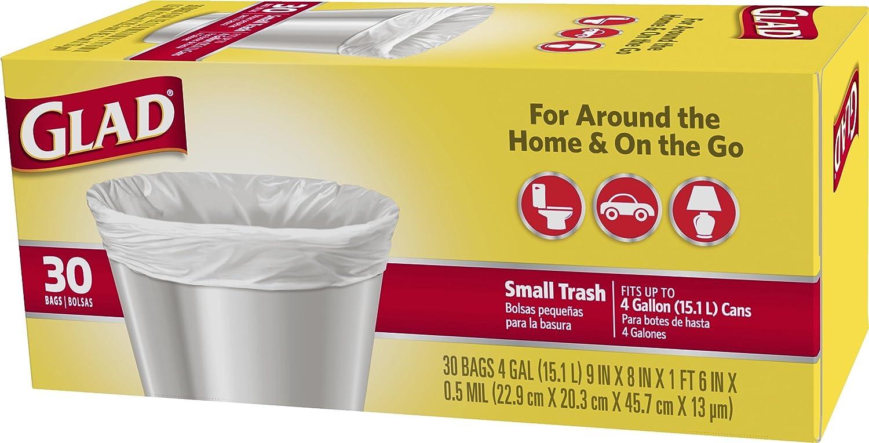 Amazon.com: Glad pequeñas bolsas de basura 4 galones ...