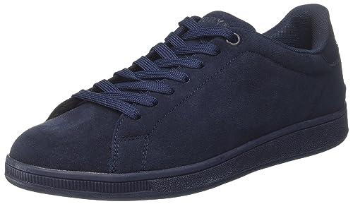 Superdry Sleek Low Premium, Zapatillas de Gimnasia para Hombre, Azul (Navy/Dark Navy), 41 EU