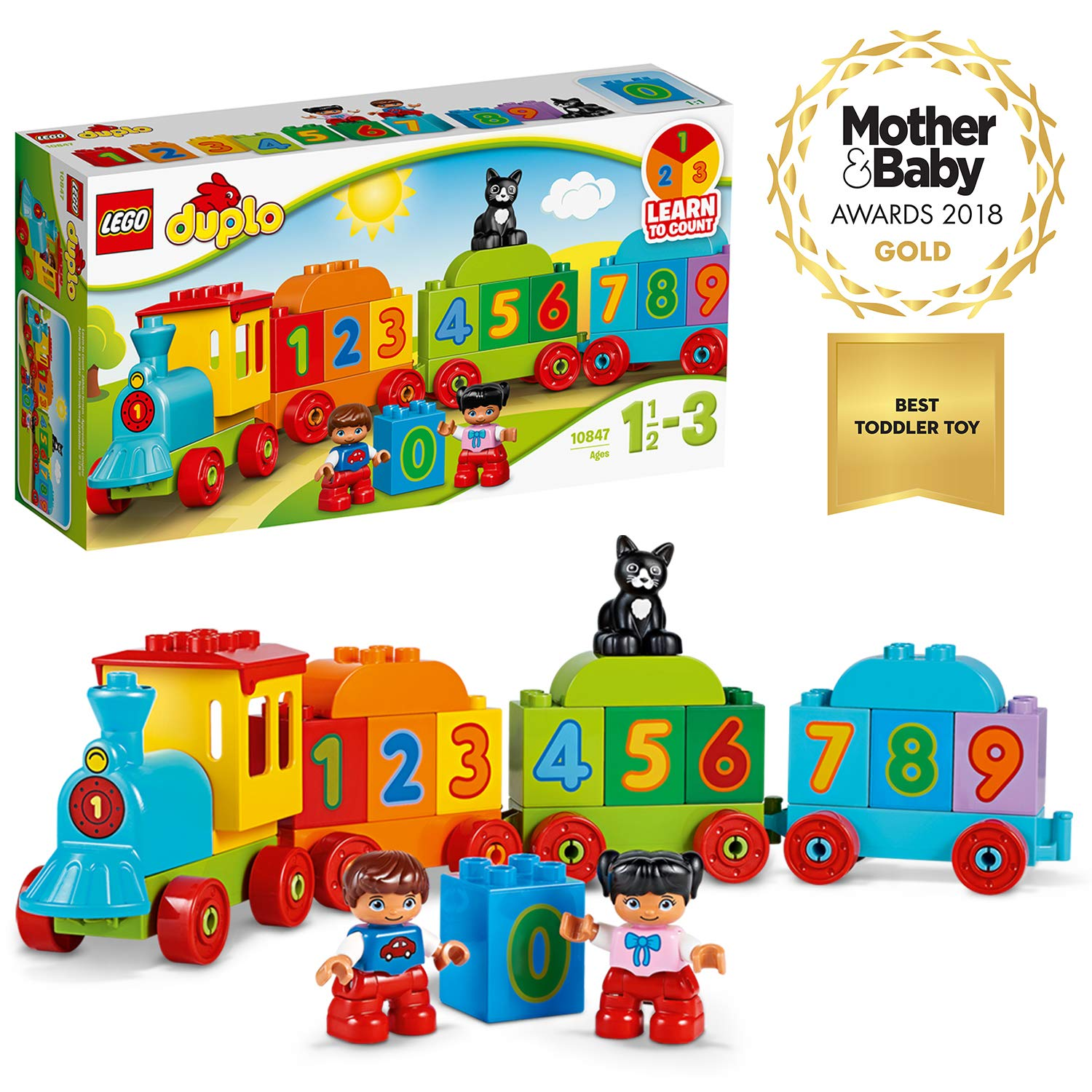 fe6698c461a0 LEGO 10847 Duplo Award-Winning Number Train Toy with Number Bricks ...