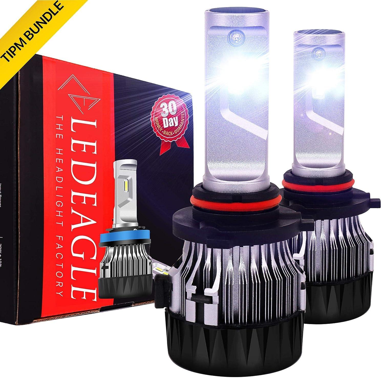 LED EAGLE 9006 CREE LED Bulbs for Car Headlight Low High Beam Fog Light 10000LM Xenon Whtie 6500K, 2Bulbs LED EAGLE HEADLIGHT FACTORY LTD