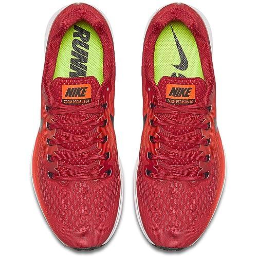 Nike Air Zoom Pegasus 34 880555-600 Gym Red Armory Navy Men s Running Shoes