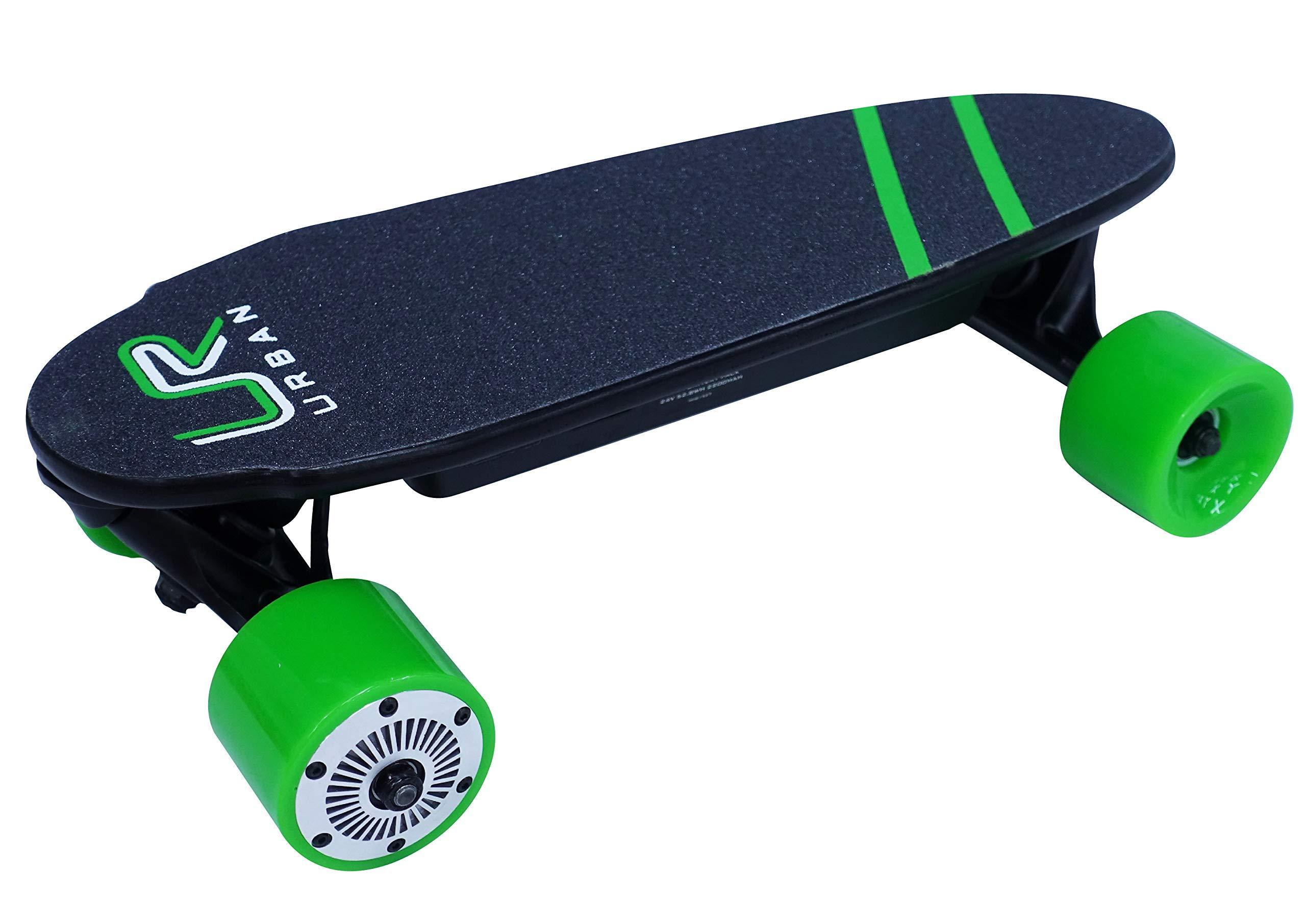 Urban - Portable Mini Electric Skateboard Skateboard with Wireless Remote 17 Inch 12 MPH 7 Mile Range (Green) by Urban (Image #1)