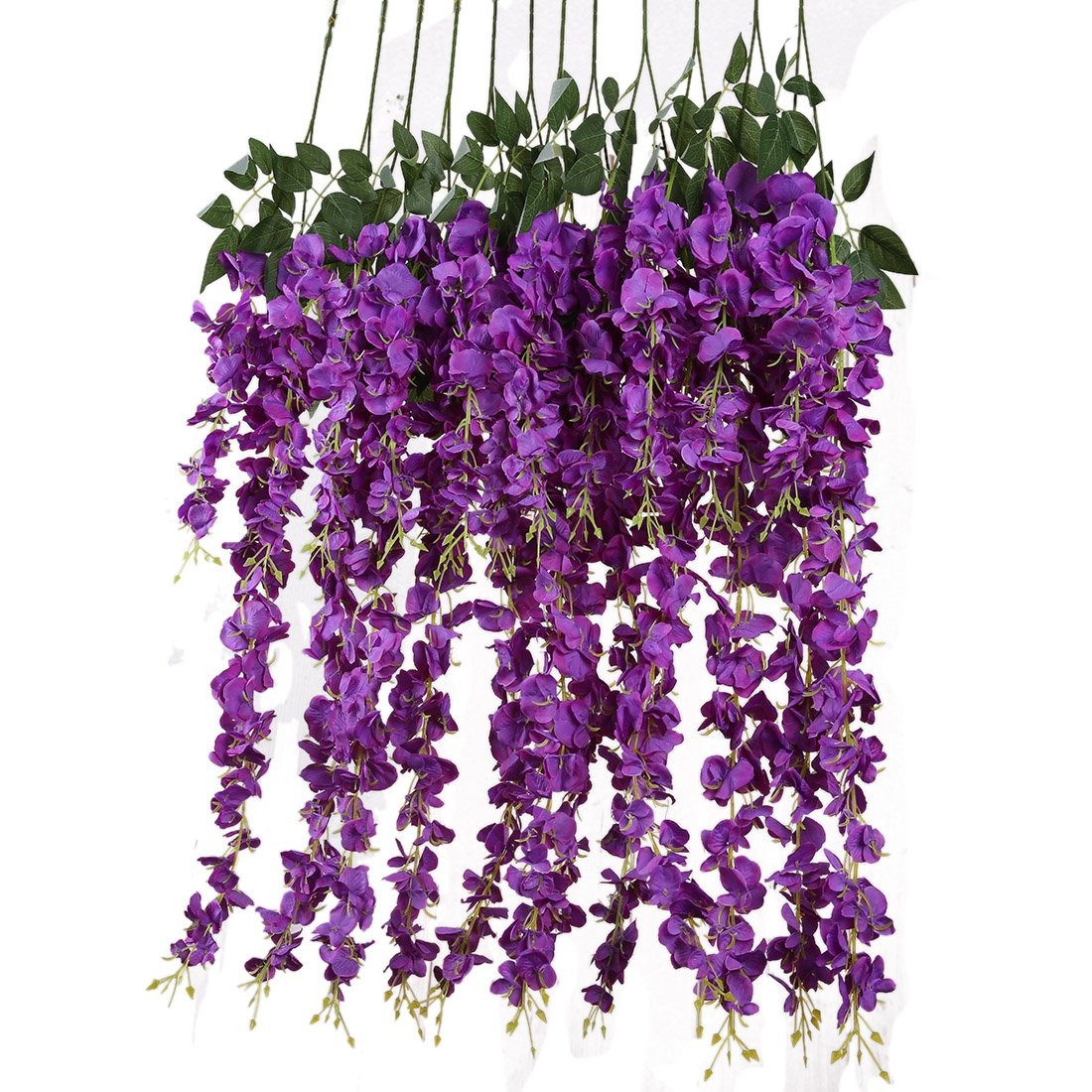 Artificial Silk Wisteria Hanging Flower Wedding Purple For