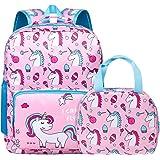 Unicorn Backpack for Girls, Toddler, Kids, Teen, Pink School Bookbag For Elementary Kindergarten Student, Preschool Children