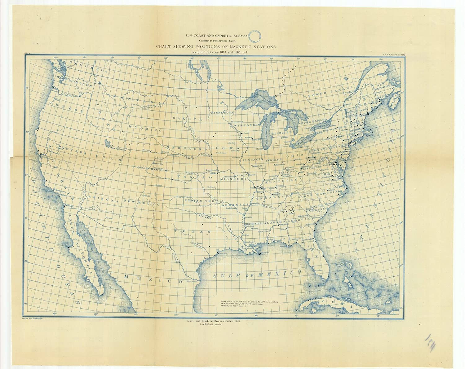Amazon.com: Vintography c.1887 18 x 24 Old Nautical Chart Drawing or on
