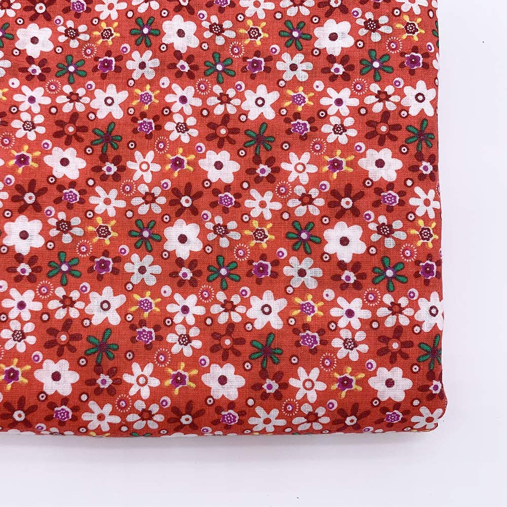 Color Mixing 7Pcs 20 x 20 Cotton Fabric DIY Making Supplies Quilting Patchwork Fabric Fat Quarter Bundles DIY for Quilting Patchwork Cushions Cotton Fabric for Patchwork