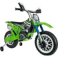 INJUSA6775 Motocross Kawasaki à Batterie 6V pour Enfants de 3Ans avec Frein électrique et accélérateur sur la poignée
