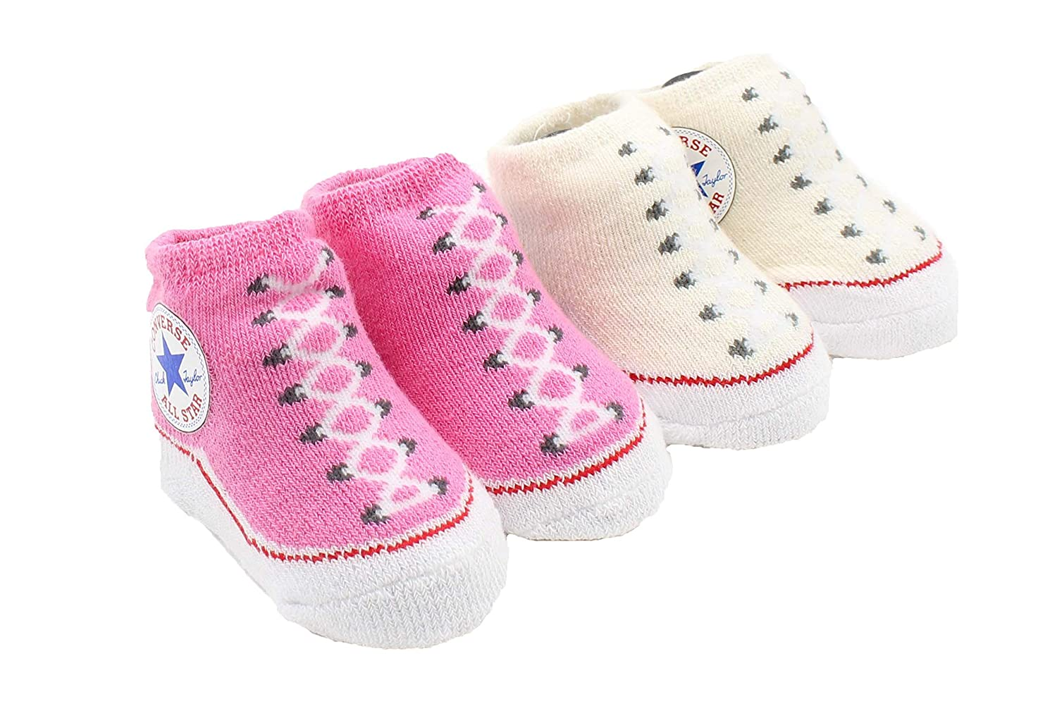 Amazon.com  Converse Baby Booties Set for Infant Boys and Girls (0-6  Months)  Clothing 327e70b6a1af