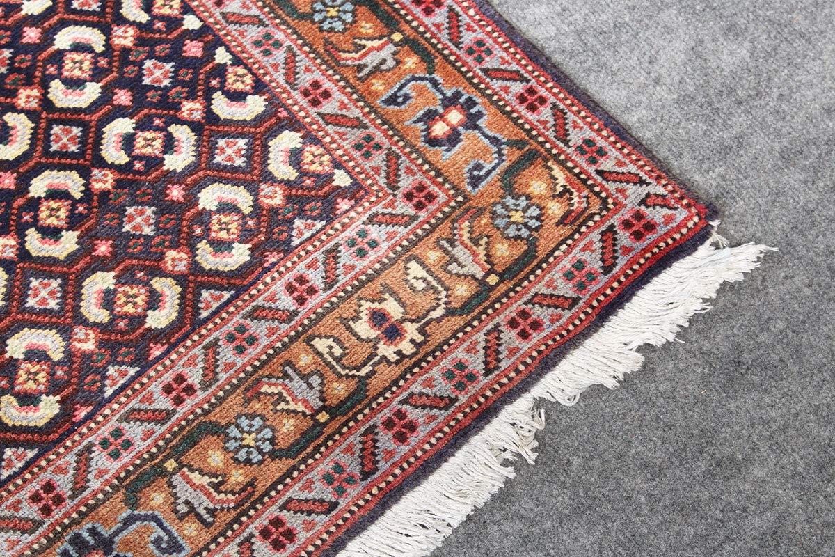 Hesamcrafts Handmade Oriental Blue Beige Wool Area Rug 33 X 95 3 Feet 9 Feet Rug Geometric Carpet Kitchen Rugs 18052340 Area Rugs Home Kitchen