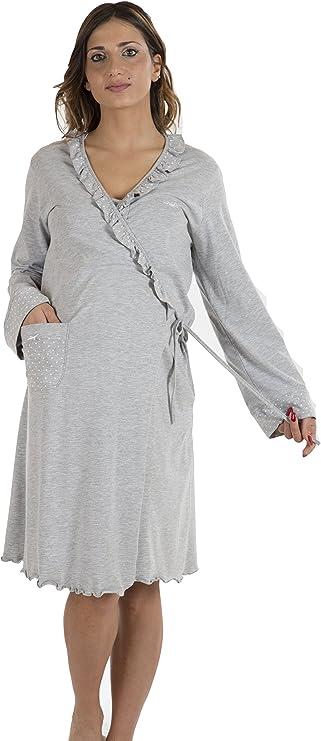 TALLA IV (M). Premamy - Bata para Maternidad, Estilo Envolvente, pre-Post-Parto