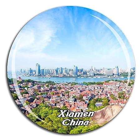Weekino Isla Gulangyu Xiamen China Imán de Nevera Cristal 3D ...