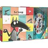 Le Loup qui apprivoisait ses émotions - Coffret Livre (petit format) + roue des émotions + 5 figurines
