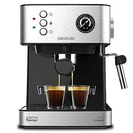 Cecotec Cafetera Express Power Espresso Professionale para Espresso y Capuccino, de 20 Bares con Manómetro