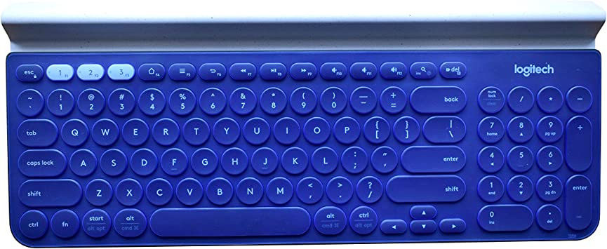 Silicone Laptop Keyboard Cover for Logitech K780 Multi Device Wireless Keyboard Skin Protector-Blue
