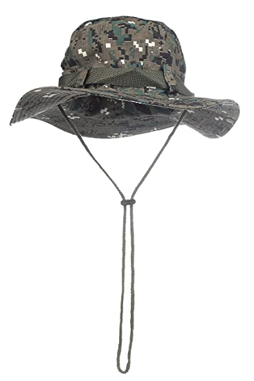 e43b7cf24 Camouflage Bucket Hats Wide Brim Sun Fishing Bucket Hat