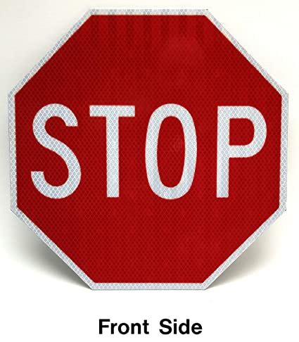 Even With Warning Signs These Traffic >> Amazon Com Highway Traffic Supply Stop Sign Road Street Sign