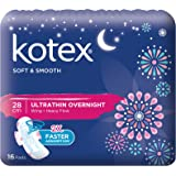 Kotex Soft and Smooth Ultrathin Wing Feminine Care Pads, 28cm, 16ct