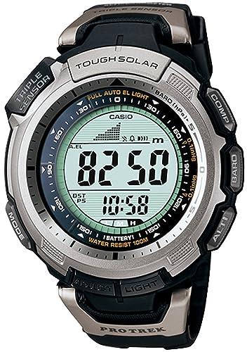 Casio Pro Trek Tough Solar Casio De los Hombres Reloj PRG-110-1V: Casio: Amazon.es: Relojes
