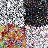 7302616e9724 FOGAWA 800 Piezas Perlas Letras Cuentas de Letras Colorido Letras de  Plastico Mezclados Abalorios Letras Perlas