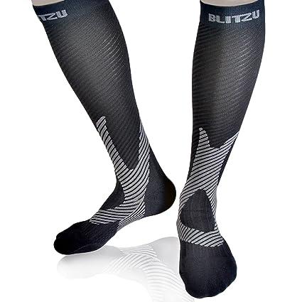 4c5c8f88ab BLITZU Compression Socks 20-30mmHg Men Women Recovery Running Medical  Athletic Edema Diabetic Varicose Veins Travel Pregnancy Relief Shin Splints  Nursing