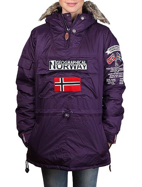 GEOGRAPHICAL NORWAY chaqueta mujer Bulbeuse púrpura - mujer ...