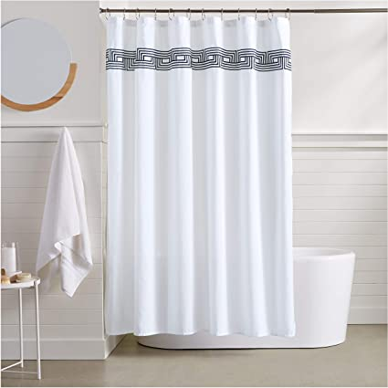 Image Unavailable Not Available For Color AmazonBasics Athena Embroidered Shower Curtain