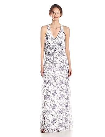 Jessica Simpson Women's Printed Chiffon Maxi Dress at Amazon ...